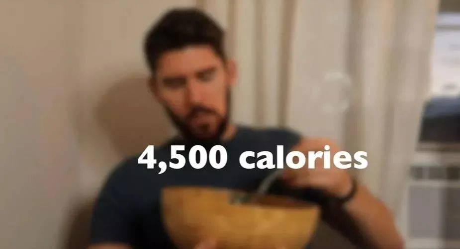 每日摄入食物的总热量