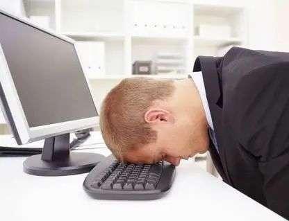 疲倦的上班族