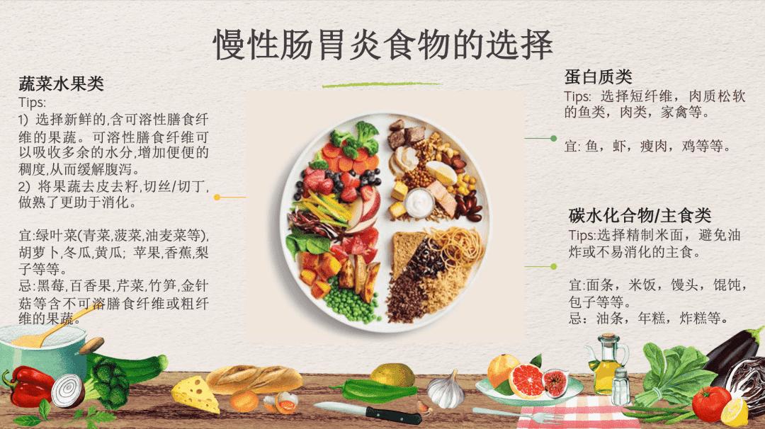 慢性肠胃炎食物的选择