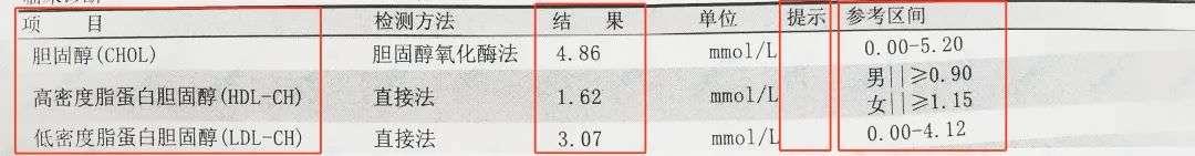 抽血检查报告